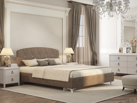 Кровать Марель Ажур коричневая