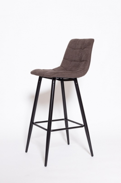 Барный стул UDC 8078 коричневый в ткани 18B