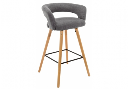 Барный стул Мару серый