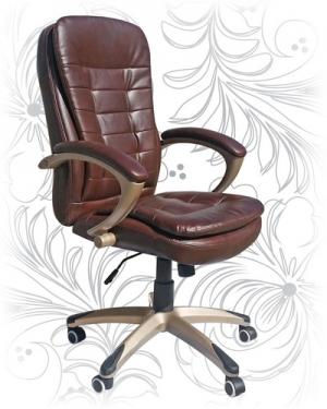 Кресло офисное LMR-106B коричневое