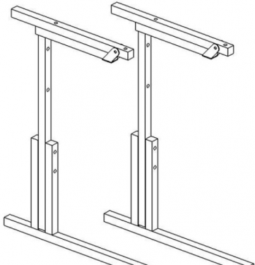 Металлокаркас ученического стола с регулировкой высоты и угла наклона № 5-7