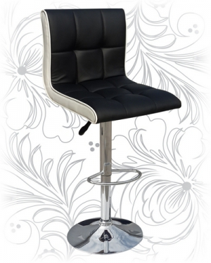 Барный стул 5006 черно-белый