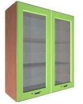 Шкаф В-700 с 2 дверьми со стёклами Размеры 700х300х720
